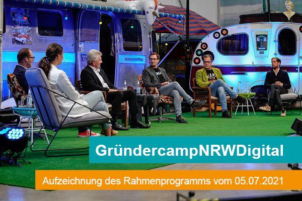 Die Podiumsgäste des #GründercampNRWDigital.